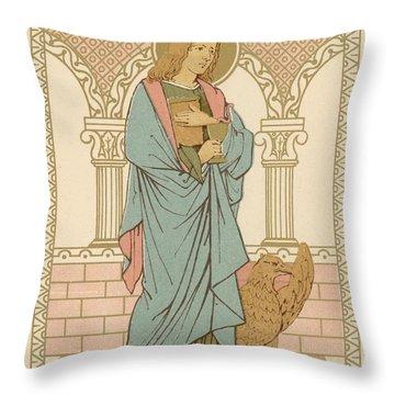 St John The Evangelist Throw Pillow by English School