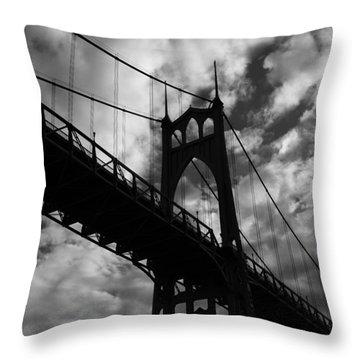 St Johns Bridge Throw Pillow