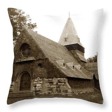 St. Johns Chapel Del Monte Monterey California 1895 Throw Pillow