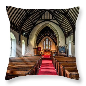 St Johns Church Throw Pillow by Adrian Evans