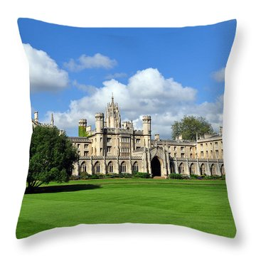 St. John's College Cambridge Throw Pillow