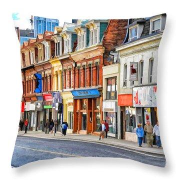 Yonge Street In Toronto Throw Pillow