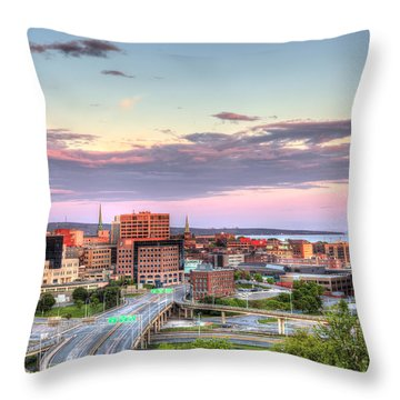 St. John's New Brunswick Sunset Skyline Throw Pillow