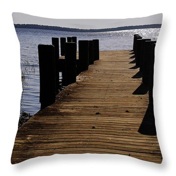 St Johns River Florida - A Chain Of Lakes Throw Pillow by Christine Till