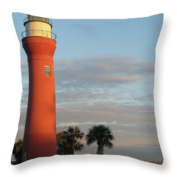 St. Johns River Lighthouse II Throw Pillow by Christiane Schulze Art And Photography