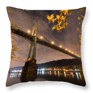 Throw Pillow featuring the photograph St. John's Splendor by Dustin  LeFevre