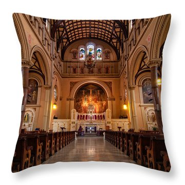 St. Joseph Church - New Orleans Throw Pillow