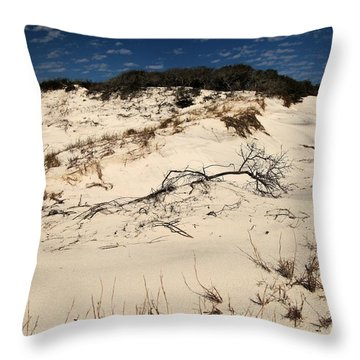 St. Joseph Sand Dunes Throw Pillow by Adam Jewell