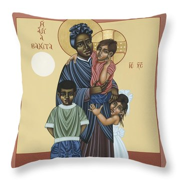 St. Josephine Bakhita Universal Sister 095 Throw Pillow