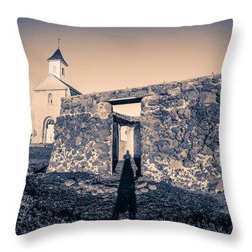 St. Josephs Church Maui Hawaii Throw Pillow by Edward Fielding