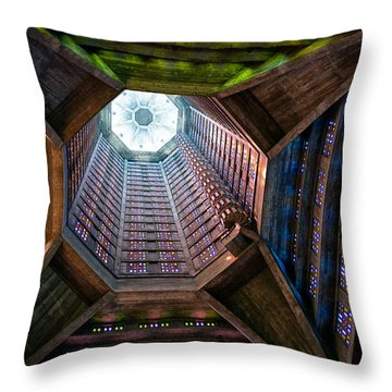 St Joseph's Spire Throw Pillow by Dave Bowman