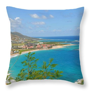 St. Kitts Throw Pillow by Cindy Manero