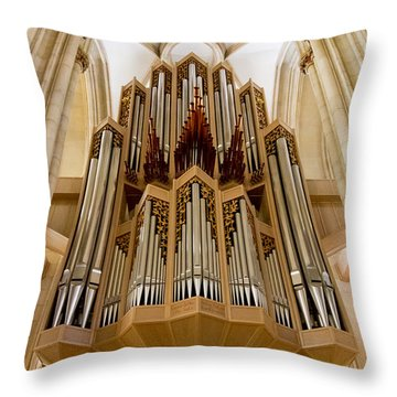 St Lambertus Organ Throw Pillow