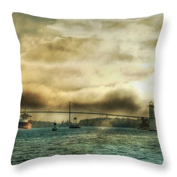 St. Lawrence Seaway Throw Pillow