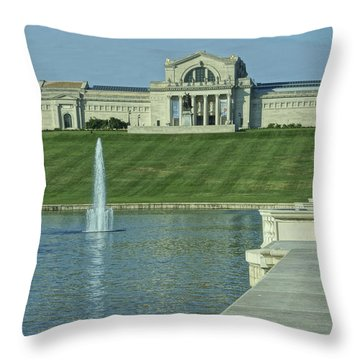 St Louis Art Museum And Grand Basin Throw Pillow