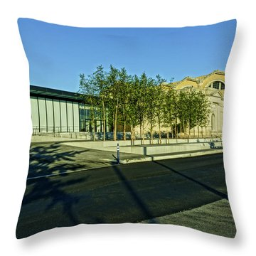 St Louis Art Museum New And Old Throw Pillow