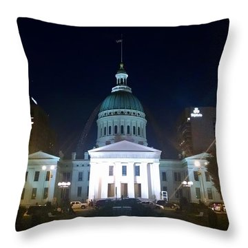 St. Louis At Night Throw Pillow by Chris Tarpening