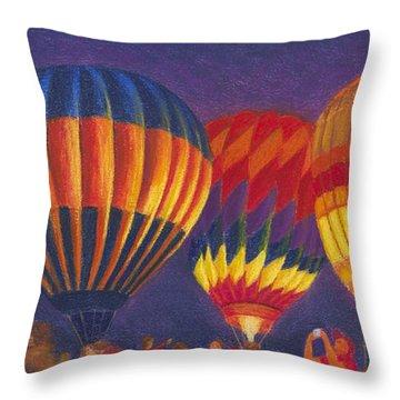 St Louis Balloon Glow Throw Pillow