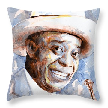 Throw Pillow featuring the painting St. Louis Blues 2 by Laur Iduc
