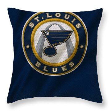 St Louis Blues Uniform Throw Pillow