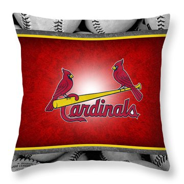 St Louis Cardinals Throw Pillow by Joe Hamilton
