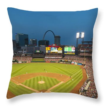 St. Louis Cardinals Busch Stadium Pano 5 Throw Pillow