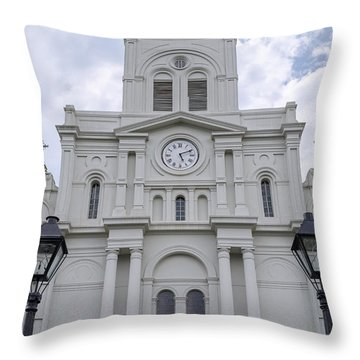 St. Louis Cathedral Close-up Throw Pillow