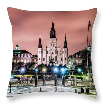 St. Louis Cathedral In The Morning Throw Pillow