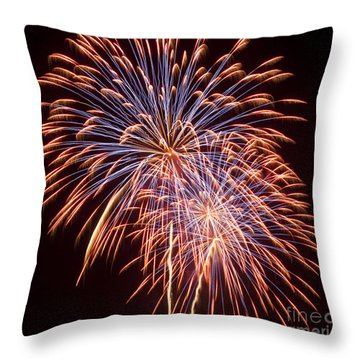 St Louis Fireworks Throw Pillow by Philip Pound