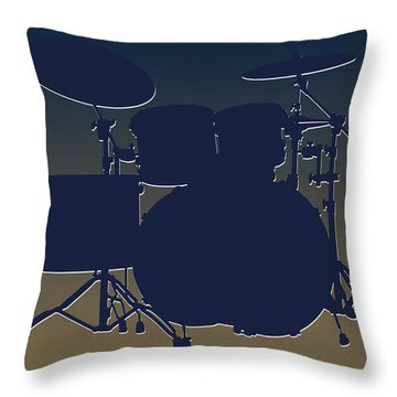 St Louis Rams Drum Set Throw Pillow by Joe Hamilton