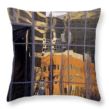 St. Louis Reflection Throw Pillow by Jane Eleanor Nicholas