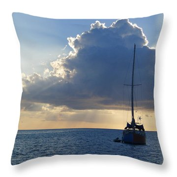 St. Lucia - Cruise - Sailboat Throw Pillow