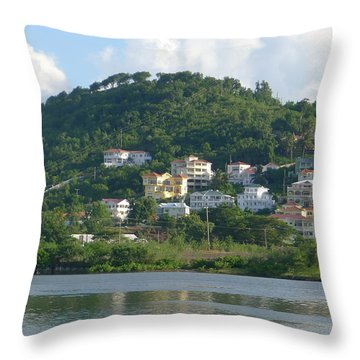 St. Lucia - Cruise View  Throw Pillow