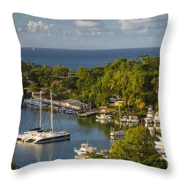 St Lucia Harbor Throw Pillow