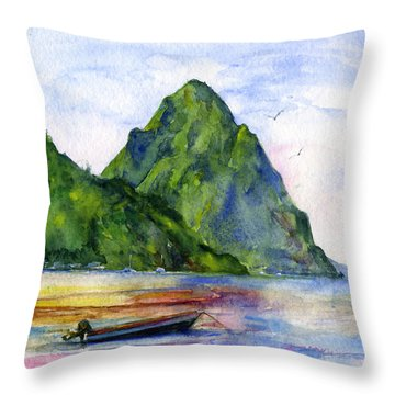 St. Lucia Throw Pillow