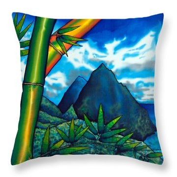 St. Lucia Pitons Throw Pillow