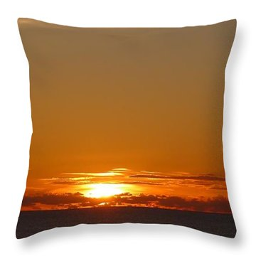 St. Lucia - Sunset Throw Pillow