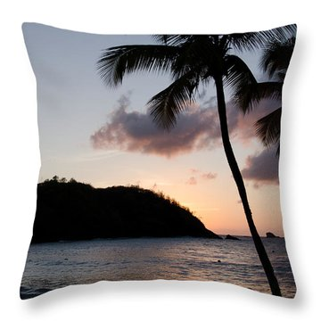 St. Lucian Sunset Throw Pillow