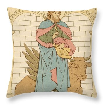 St Luke The Evangelist Throw Pillow by English School