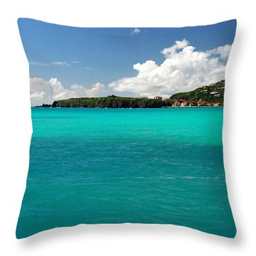 St. Maarten Caribbean Paradise Throw Pillow