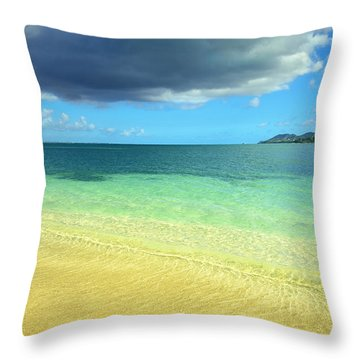 St. Maarten Tropical Paradise Throw Pillow