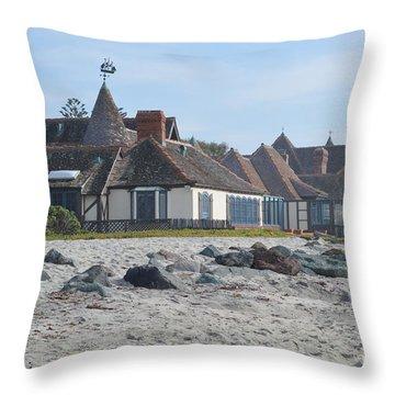 St. Malo Beach View Throw Pillow