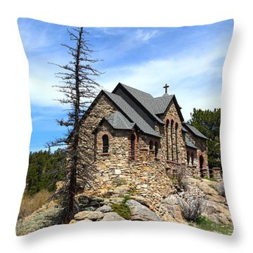 St. Malo Church Throw Pillow