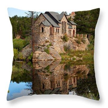 St. Malo Throw Pillow by Jim Garrison