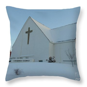 St. Marks Lutheran Church Throw Pillow