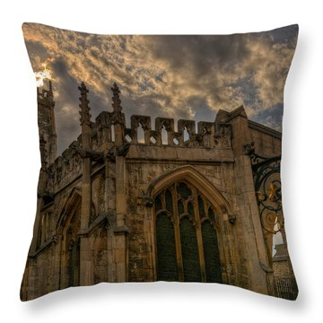 St Martin Coney Street In York Throw Pillow