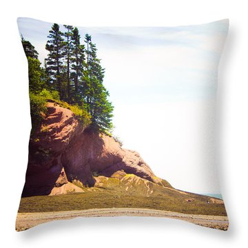 Throw Pillow featuring the photograph St. Martin's Sea Caves by Sara Frank