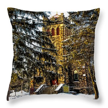 St Mary Church Manchester Michigan Throw Pillow by Pat Cook