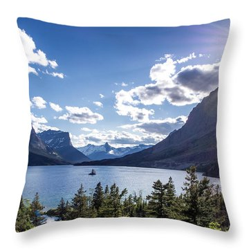 St. Mary Lake Throw Pillow by Aaron Aldrich
