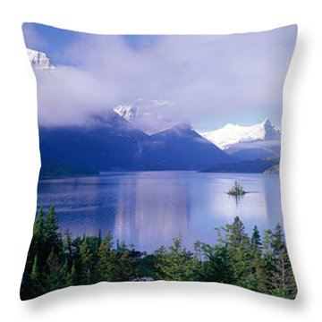 St Mary Lake, Glacier National Park Throw Pillow